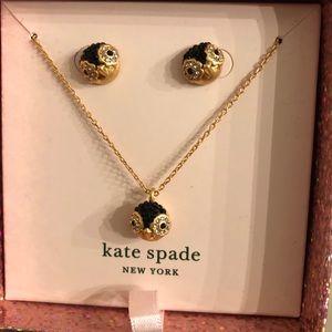 Kate spade penguin earring necklace SET